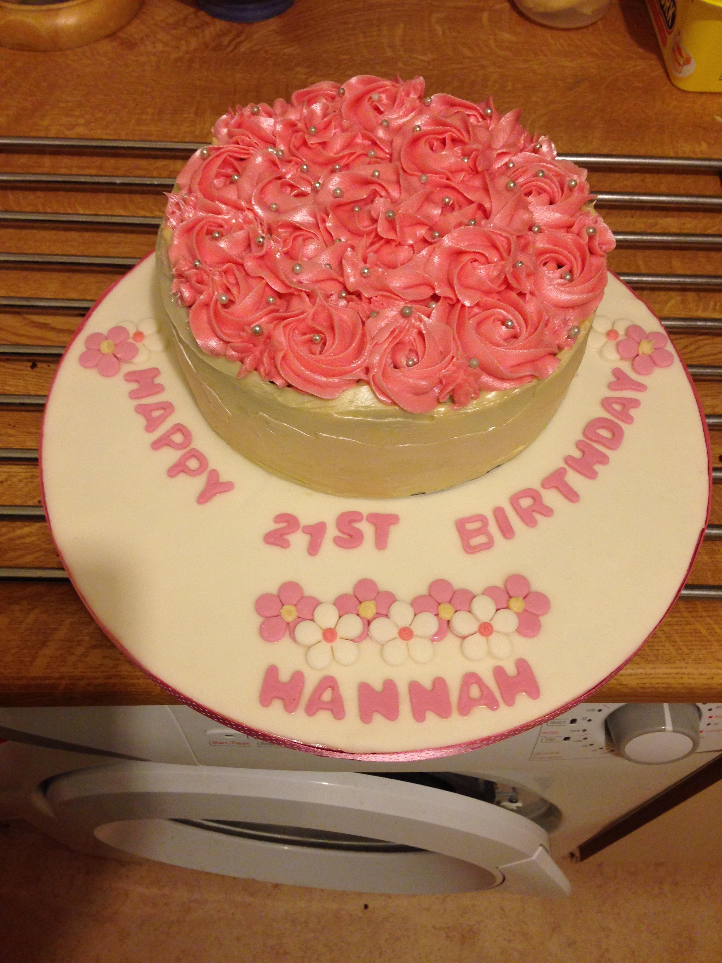 21st And 70th Birthday Cake Making
